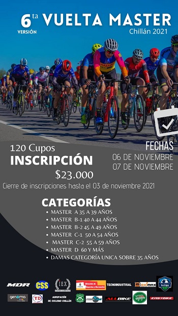 6° Versión Vuelta Máster Chillan 2021