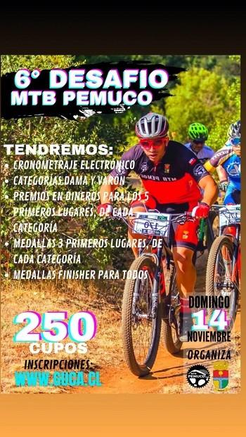 6° DESAFÍO MTB PEMUCO 2021
