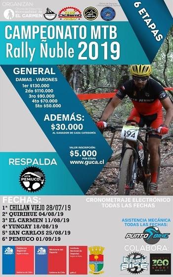 1° Fecha Campeonato MTB Rally - Chillán Viejo